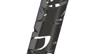 Tube «FLORA» en Inox 1250mm x 42mm de diamètre